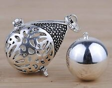 Silver Mexican Bola Harmony Ball Lucky PENDANT Charm Baby Bell Angel Caller 20mm