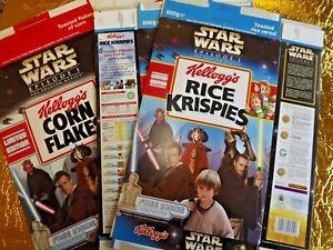 3 x 2000  Kelloggs  Star Wars Cereal  2 Rice Krispies / 1 Corn Flakes