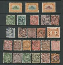CHINA STAMPS FROM AN OLD ALBUM COILING DRAGON POSTMARK INTEREST FAULTS