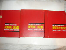 Detroit Diesel MASTER PARTS CATALOG In-Line InLine 71 Service Shop Manual MARINE