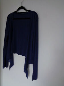 Store twenty one Womens thin cardigan size 22 blue SEE MEASUREMENTS BELOW