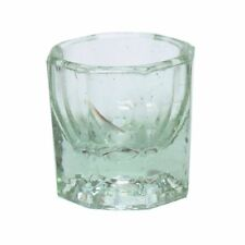 Clear Nail Art Crystal Glass Dappen Dish Liquid Powder Container