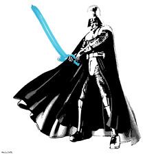DARTH VADER BALLOON SWORD MR CLEVER ART star wars banksy brainwash fairey mondo