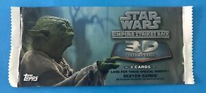 STAR WARS TOPPS EMPIRE STRIKES BACK 3D WIDEVISION SEALED PACK