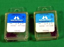 Mustad Fly Tying Hooks 2 boxes 100 Lot Dry Fly 200 Total 94840 2 Sizes Midge