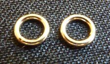 Solid 14Kt Gold 4mm closed jump rings 22ga gold jewelry supplies gold findings