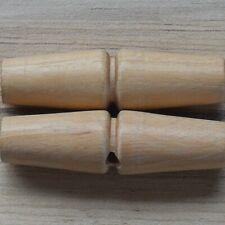 WOODEN TOGGLES X 5 -  BEST QUALITY - 1-HOLE TRADITIONAL.