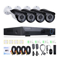 4CH 2MP 1080P DVR AHD CCTV Outdoor Home Security Camera System Kit HDD