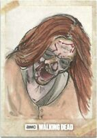 AMC The Walking Dead One Of A Kind Walker Sketch Card TOPPS
