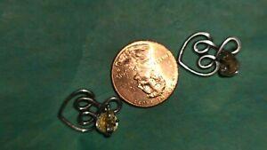 Retired/Rare James Avery Looped Heart Ear Posts Dangle Earrings Sterling Silver