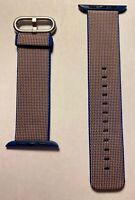 Apple Watch Royal Blue Woven Nylon Silver Buckle Series 0 1 2 3 42mm 4 & 5 44mm
