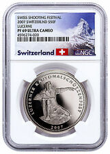 2007 Switzerland Shooting Festival Thaler Lucerne Silver NGC PF69 UC SKU48961