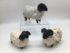More details for vintage castle wynd scotland pottery black faced rams