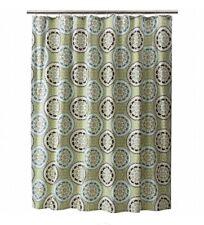 "NEW Threshold Green Medallion Fabric Shower Curtain ~ 72"" X 72"" ~ Turquoise ~"