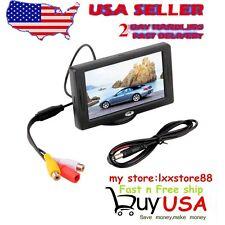 "4.3"" TFT LCD Monitor Car Rear View System Backup Reverse Bullet Style Camera ZN"