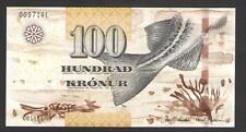 FAEROE  ISLANDS  100  KRONUR  2011   P 30 Uncirculated  Prefix C Low s/n