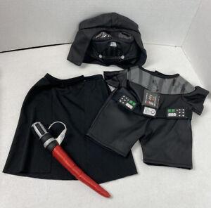 Build A Bear Black Star Wars Darth Vader Costume Mask Cape Light Saber #21J