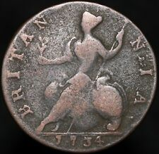 More details for 1734 | george ii half-penny | copper | coins | km coins
