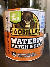 Gorilla Waterproof Patch And Seal Tape 4in Wide X 10ft Roll Thick Adhesive White