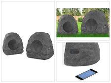 Rechargeable Bluetooth Outdoor Wireless Rock Speakers Pair Waterproof Pool Garde