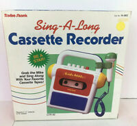 RADIO SHACK Vintage Sing-a-Long Cassette Recorder Microphone NEW In BOX! RARE!