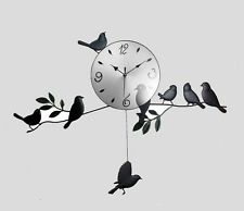 NEW 2016 MODERN BIRD STYLE CLOCK PENDULUM WALL CLOCK HANGING HOME KITCHEN DECOR