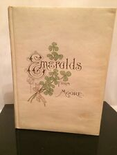 """THOMAS MOORE """"Emeralds from Moore"""" ca. 1901 POETRY Chromolithography"""