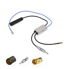 Car DAB+ AM FM Radio Antenna Splitter DIN Male to Female with SMB Aerial Adapter