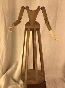 Madonna Manichino Gabbia Stile '600 Vintage Statua Santa 37 Cm sacra scultura