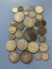 Lot of 28 world Silver Coins, Canada Germany South Africa and More