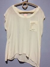 Sass & Bide Cream Silk Top Size L