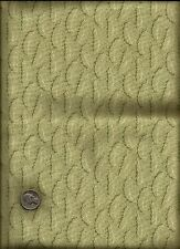Nice Feather & Micro Dot Print drk dusty green & ecru on pastel green Fabric