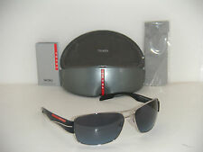 NEW PRADA SUNGLASSES PS 53NS 1BC5I1 AUTHENTIC SILVER W/ BLUE GRAY GRADIENT 65MM