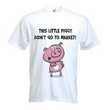 Este cerdito no ingresar al mercado Camiseta-vegetariano vegano Veggie S-XXXL