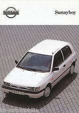NISSAN Sunny Sunnyboy PROSPEKT 7/92 brochure auto macchine Fuoristrada Giappone 1992 auto prospetto