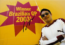 Giancarlo Fisichella Hand Signed B&H Jordan Ford Brazil 2003 Photo 12x8.