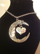 Special friend, moon necklace silver plated 18inch chain.