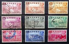 ETHIOPIA 1952 Complete SG435 to 443 Fine/Used Cat £50 NJ624