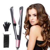 2In1 Hair Curler Styling Curling Iron Roller Hair Straightener Salon Hair Style