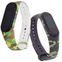 Cinturino bracciale polso silicone CAMOUFLAGE militare per Xiaomi Mi Band 4 e 3