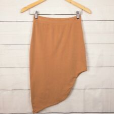 Kookai Womens Skirt 2 (au 8 S) High Waist Elastic Waist Hi Lo Stretch Brown A207