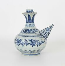 16 C Chinese Ming Dynasty Annamese Blue and White Porcelain Kendi Ewer Pot