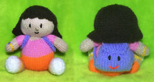 Tejer patrón-Dora La Exploradora inspirado Choc Tapa Naranja/14 CMS de juguete