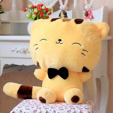 Fortune Cat Kitty Tail Gift Plush Stuffed Toys Doll Cushion Sofa Pillow Yellow