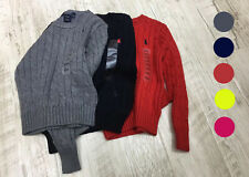 Boys girls kids long sleeve knitted cotton cardigan knit outwear sweater 2Y - 6Y