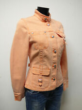 BIBA DAMEN JEANS JACKE GR 34 DE / IN ORANGE & TREND - CHIC    ( P 7246 )