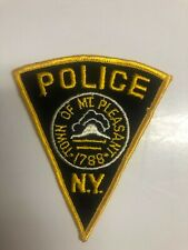 Old Mt. Pleasant New York Police Patch