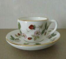 WEDGWOOD WILD STRAWBERRY MINIATURE BONE CHINA CUP AND SAUCER