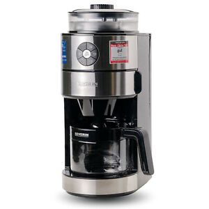 Severin Kaffeeautomat Malwerk Kaffeemaschine Filtermaschine Edelstahl Schwarz