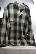 Men's Large Button Down Shirt Long Sleeve - WILKE RODRIGUEZ large block pattern